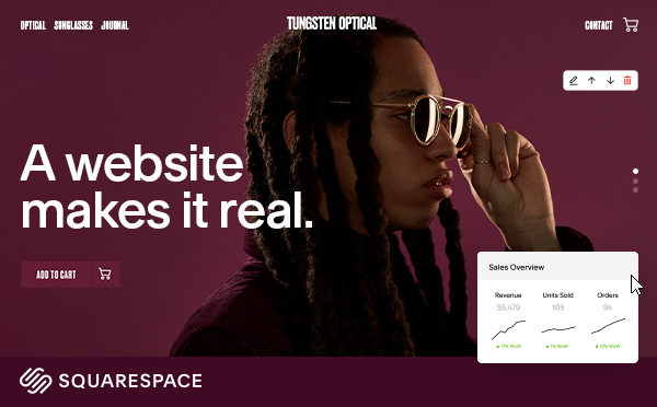 Siteinspire sunglasses sqsp